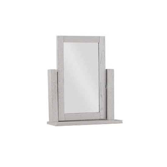 View Tertia dressing mirror with stone painted frame