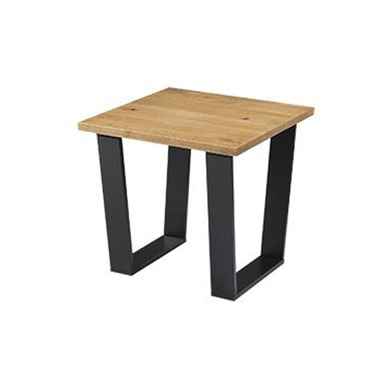 View Texas lamp table in antique wax with black metal legs