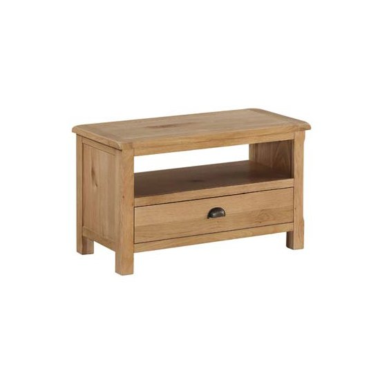 View Trevino small tv unit in oak with 1 drawer