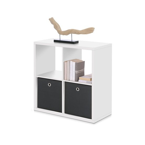 View Version cube display unit in white with 4 compartments