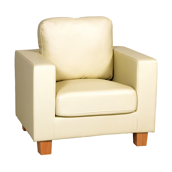 View Wasp pu leather 1 seater sofa in cream