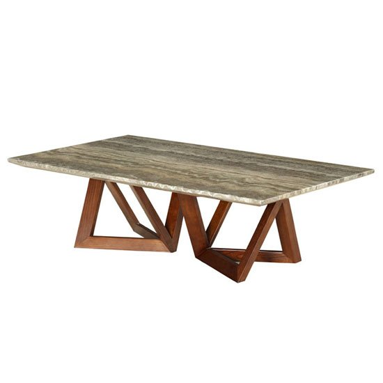 View Webstar paper marble coffee table in ash with walnut base