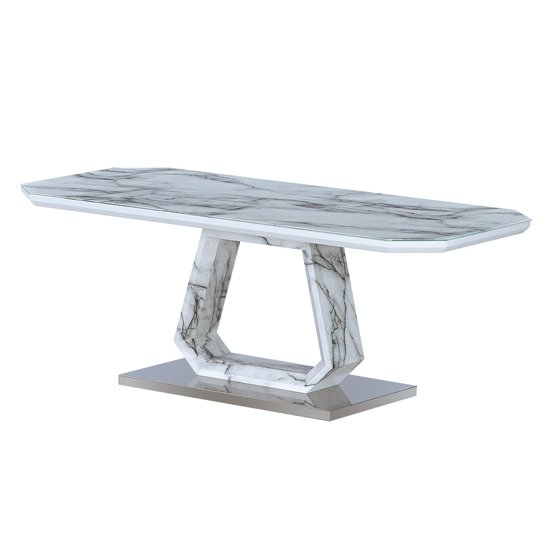 View Westlake marble effect glass coffee table