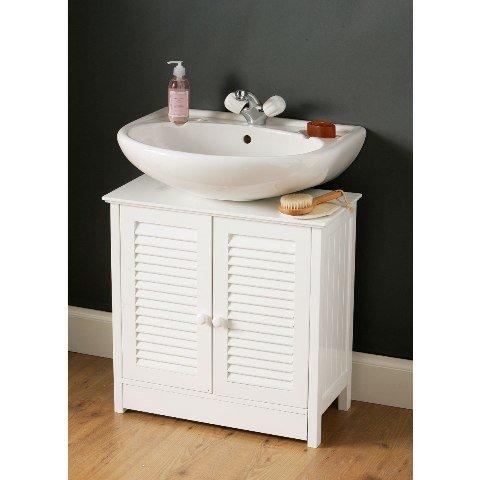 View White under sink bathroom cabinet