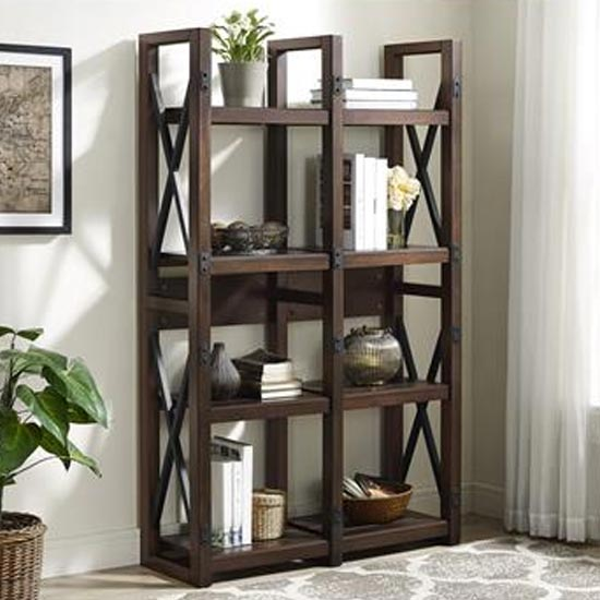 View Wildwood wooden bookcase in espresso