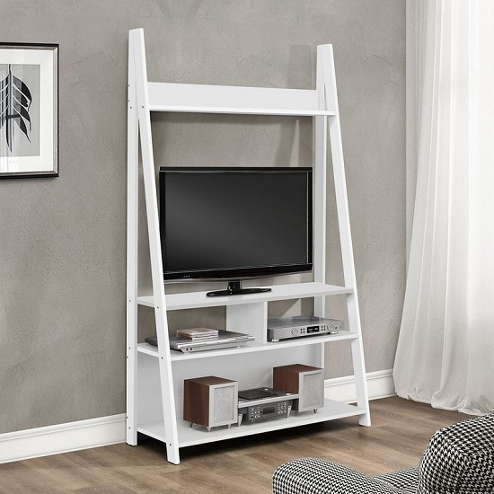 View Yoder wooden entertainment unit in white finish