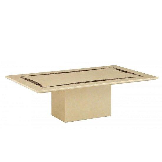 View Zantos contemporary marble coffee table rectangular in cream