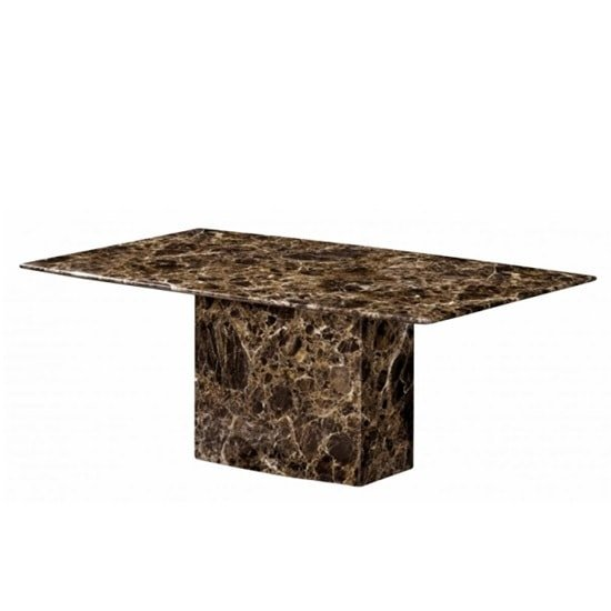 View Zelder marble coffee table rectangular in brown